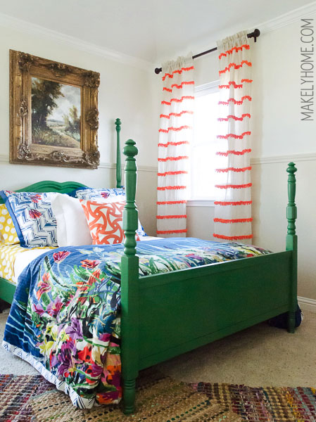 Diy embellished curtains an anthropologie swing stripe for Anthropologie store decoration ideas