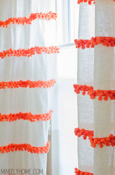 Diy Embellished Curtains An Anthropologie Swing Stripe