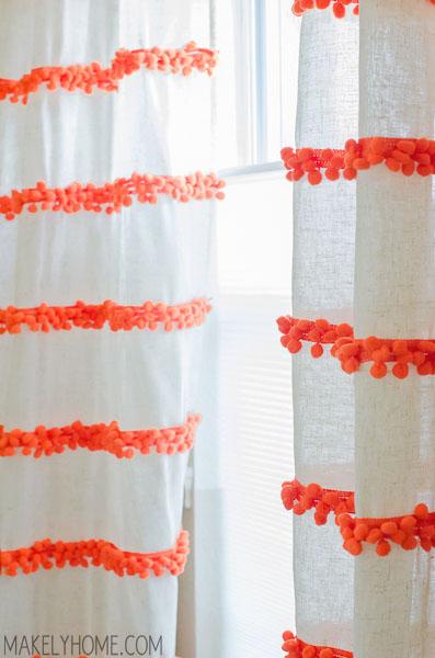 Diy Embellished Curtains An Anthropologie Swing Stripe