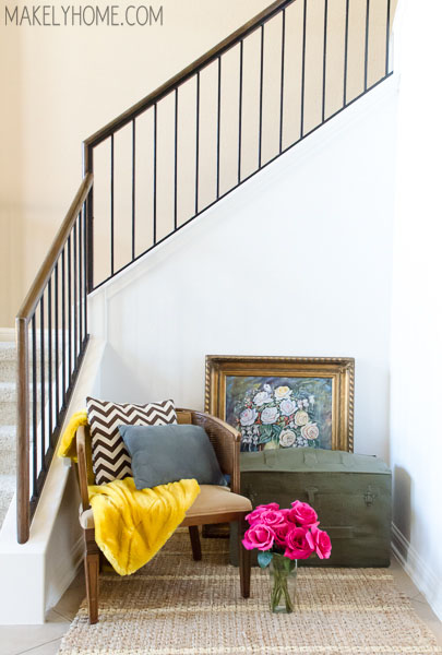 How to Paint a Wall in a Tight Space via MakelyHome.com