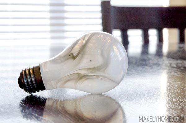 What causes a marbled light bulb? via MakelyHome.com