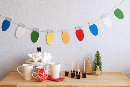 Make Your Own Christmas Light Decorations