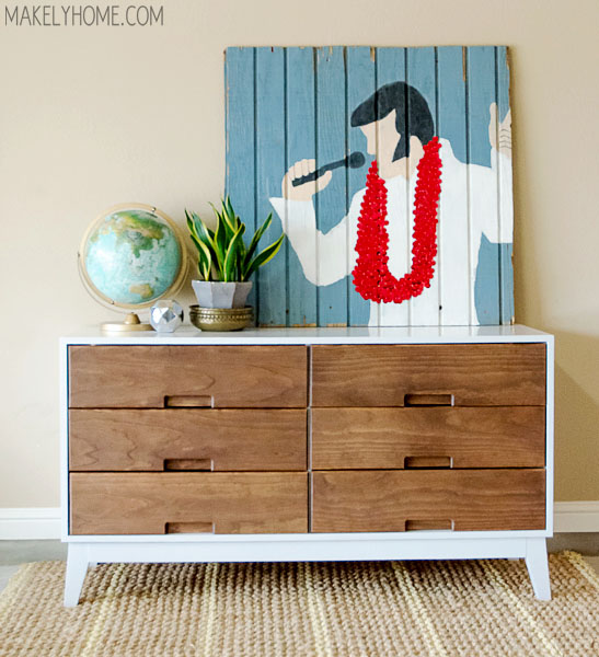 how to make a midcentury modern inspired two tone dresser - makely Mid Century Modern Nightstand Diy