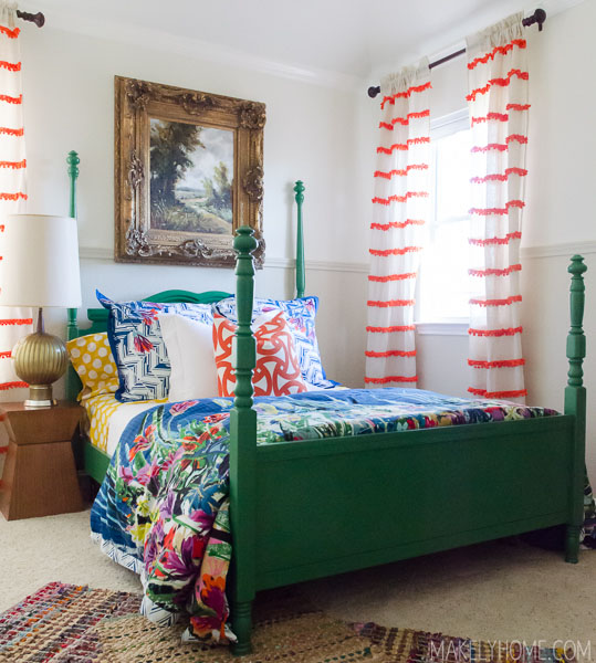 How To Refinish A Craigslist Cast Off An Emerald Green Bed Via Makelyhome