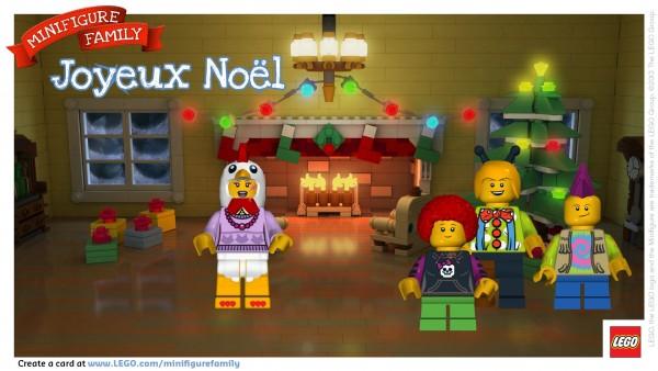 Make a LEGO Minifigure Holiday Card for your kids via MakelyHome.com