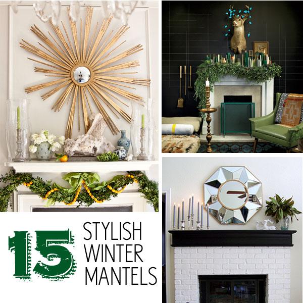 15 Stylish Winter Mantels via MakelyHome.com