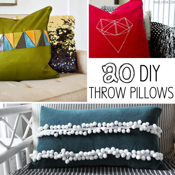 Diy Throw Pillow Instructions : 20 DIY Throw Pillows - Makely School for Girls