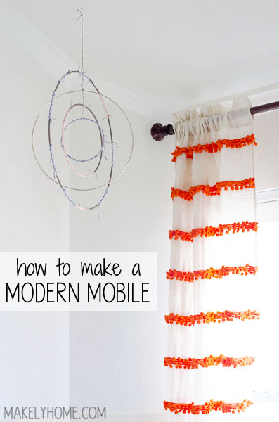 How to Make a Modern Mobile via MakelyHome.com