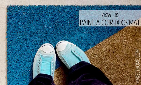 How to Paint a Coir Doormat via MakleyHome.com