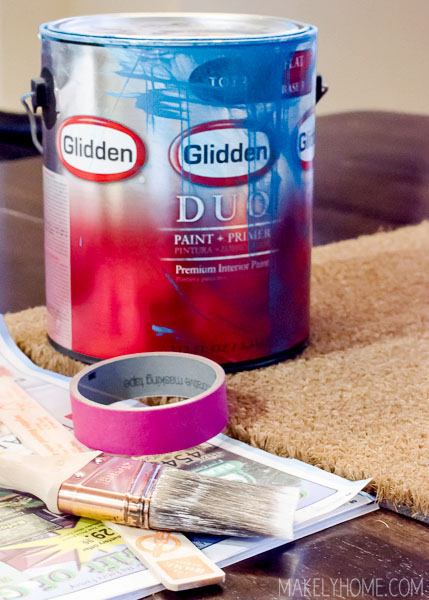 How to Paint a Coir Doormat via MakleyHome.com