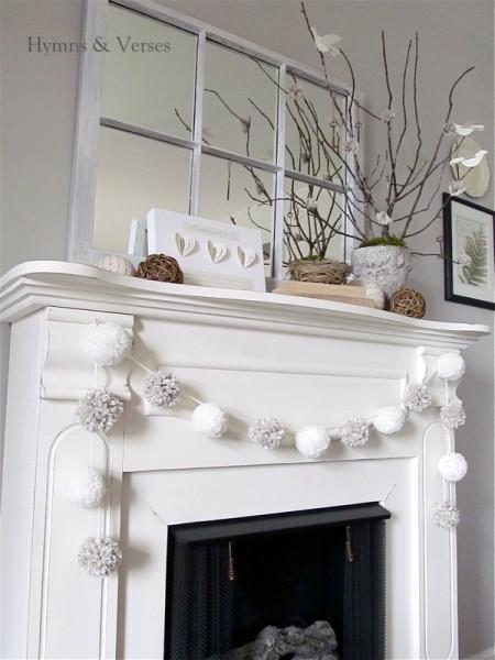 15 Doable Winter Mantels via MakelyHome.com