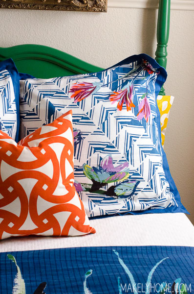 the secret to a great looking euro sham pillow via MakelyHome.com