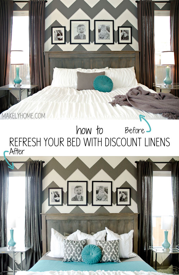 How To Refresh Your Bed With Linens Via Makelyhome