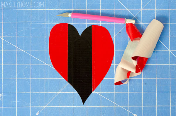 How to Easily Cut Shapes from Duck Tape via MakelyHome.com