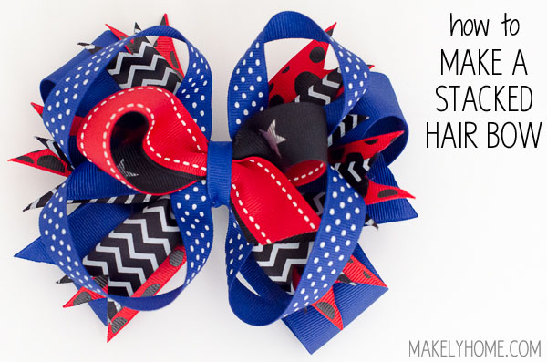 How to Make Stacked Hair Bows via MakelyHome.com