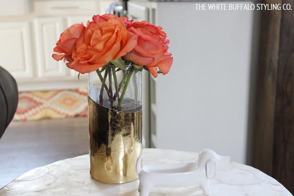 DIY Gilded Vase from thewhitebuffalostylingco.com