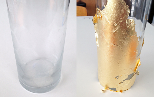 Diy Gold Leaf Honeycomb Vase Makely