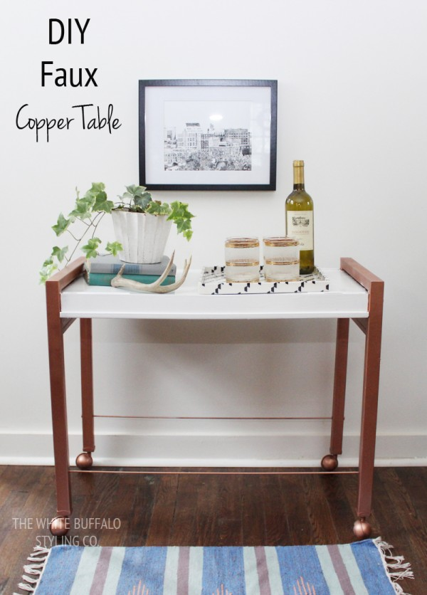 DIY Faux Metal Table