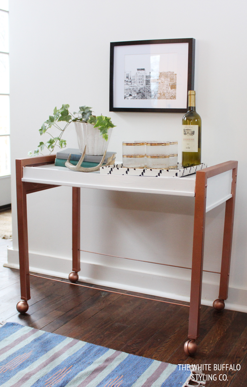 Diy Faux Copper Table