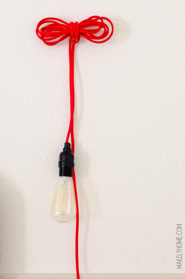bundled cloth cord lamp via MakelyHome.com