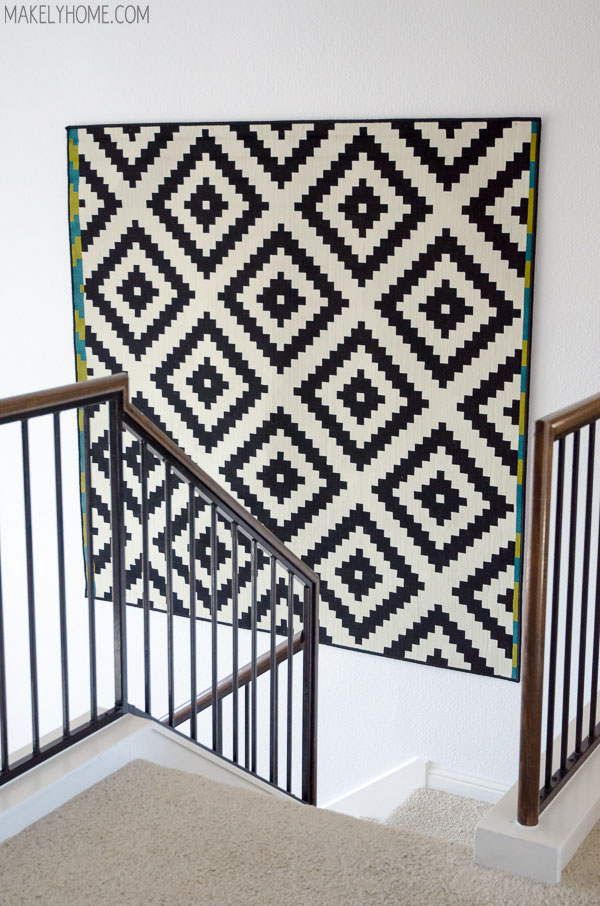 How To Hang A Rug On Wall Via Makelyhome