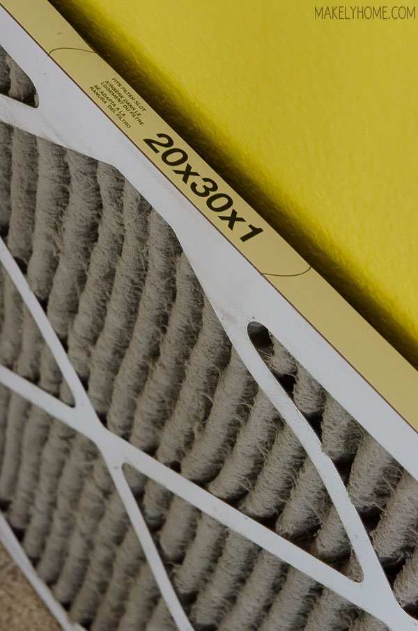 Help prevent allergens lurking in the home by changing your HVAC filter on a regular basis (and make it easier to paint your walls) #HealthierHome