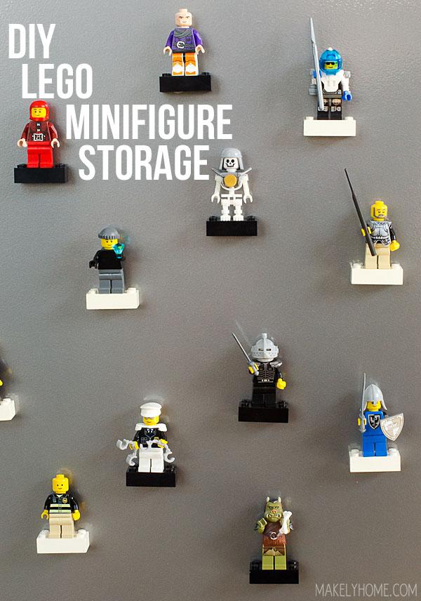 DIY Lego Minifigure Storage