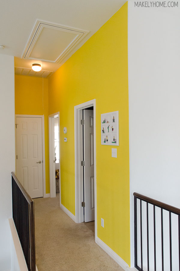living with it plus a paint stick giveaway makely ForNeon Yellow Wall Paint