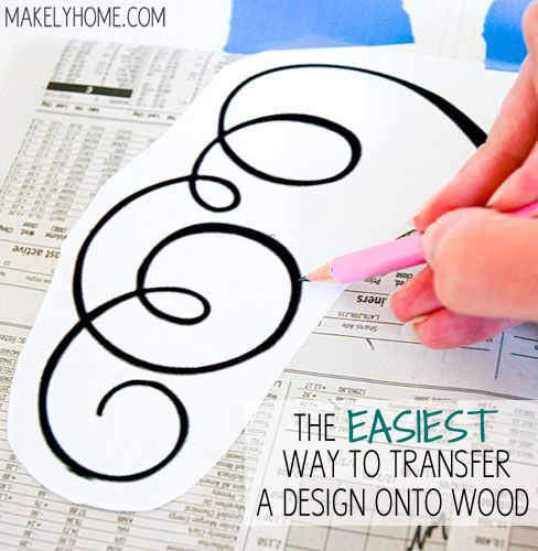 how to transfer a large pattern onto wood