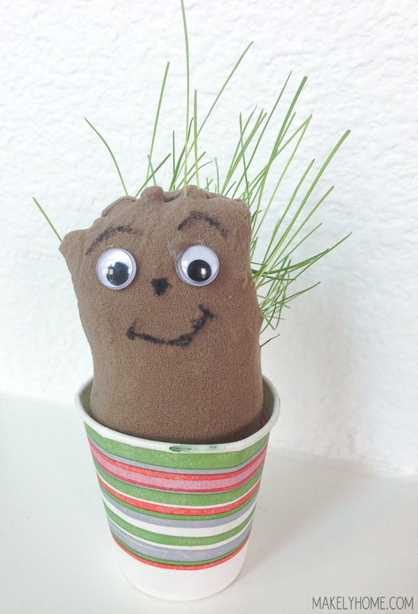 Grassy Buddy - super easy kid's craft