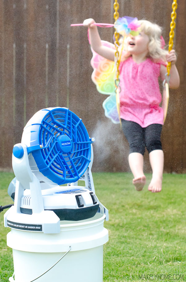 Arctic Cove 18v Bucket Top Misting Fan Review