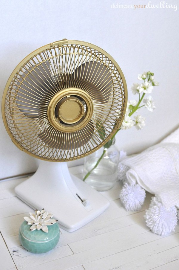 Updated gold fan