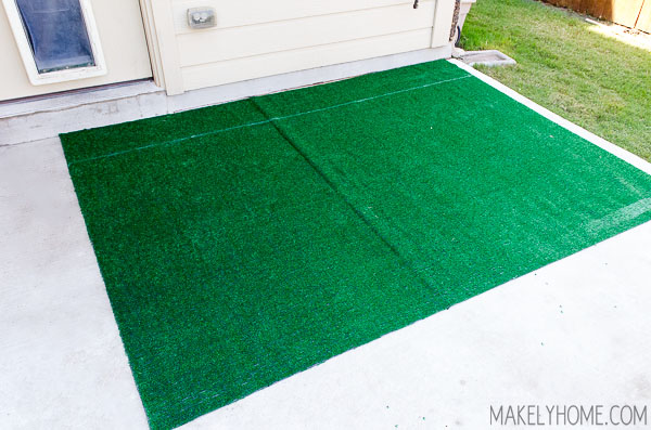 Diy Astroturf Grass Striped Patio Rug Makely School For