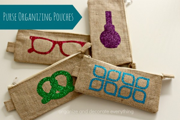 purse organizing pouches