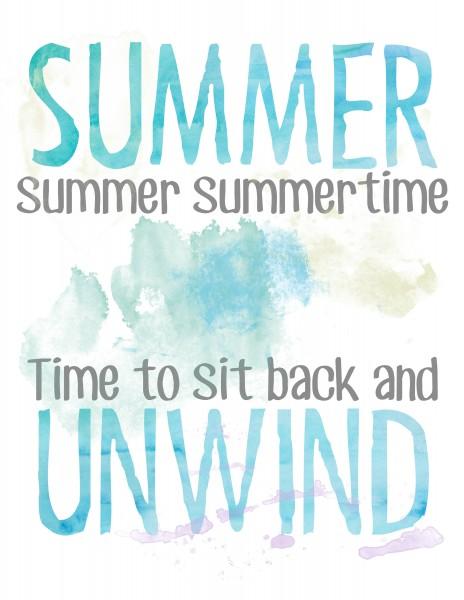 Free Summer Watercolor Printable