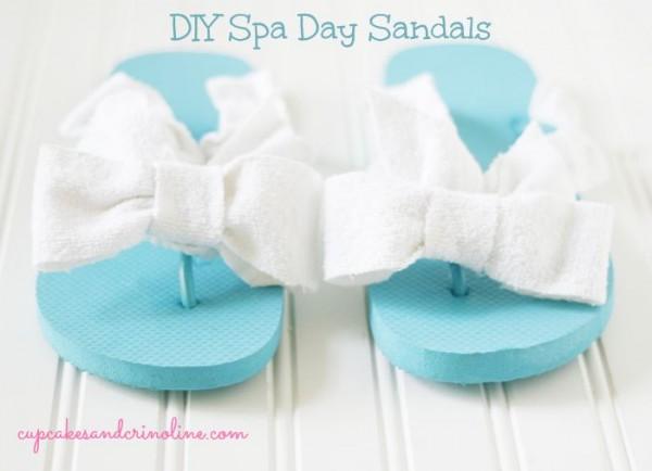 DIY Spa Day Flip Flops