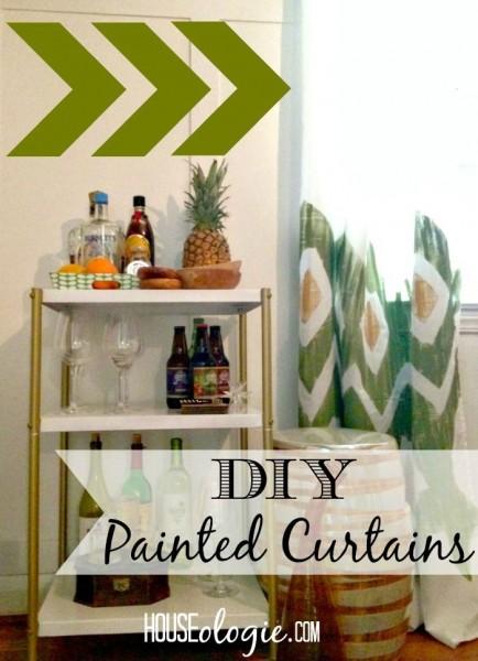 DIY Ikat Curtains