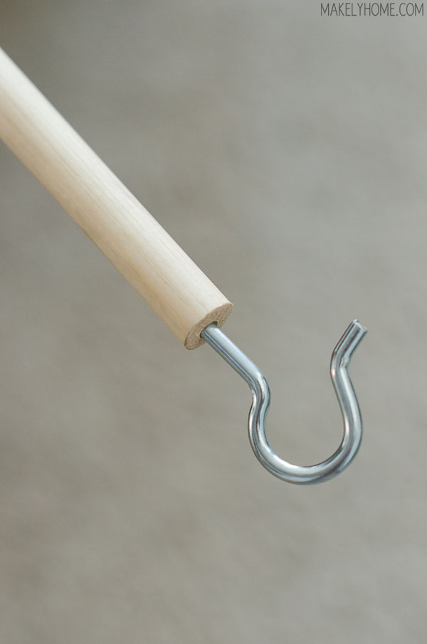 how to replace an old, dirty attic cord with a cheap and easy hook and pull