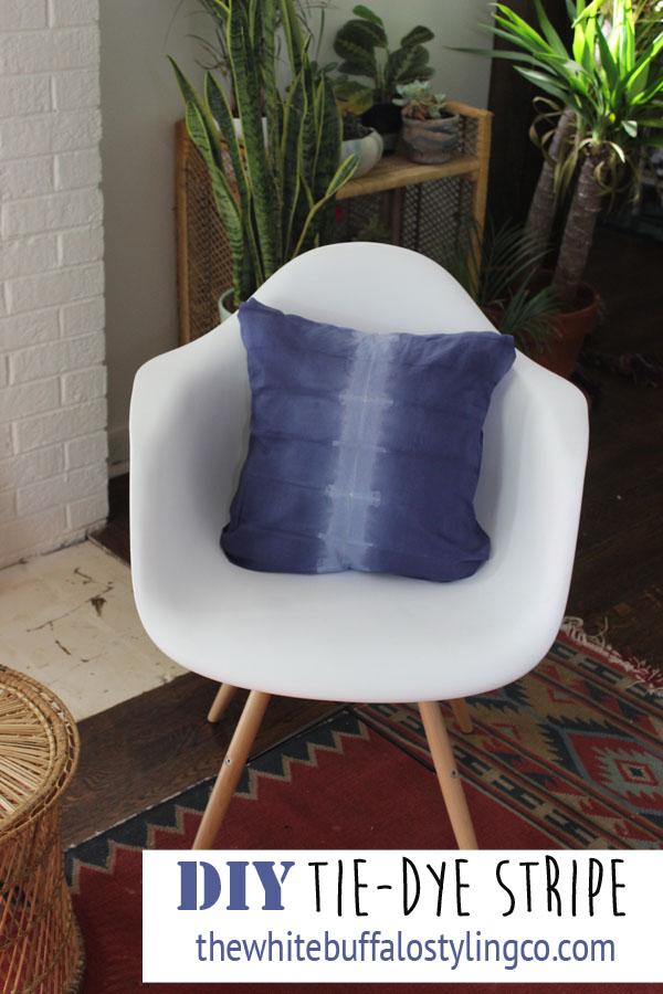 Tie Dye Stripe Pillow Tutorial