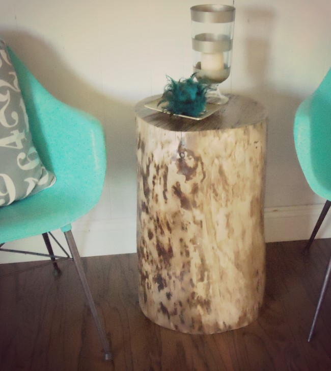 DIY stump table