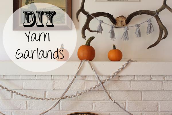 DIY Fall Yarn Garlands
