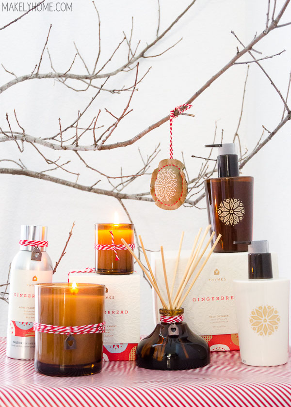 Delicious and sophisticated home fragrance scents - Thymes Holiday Gingerbread Collection