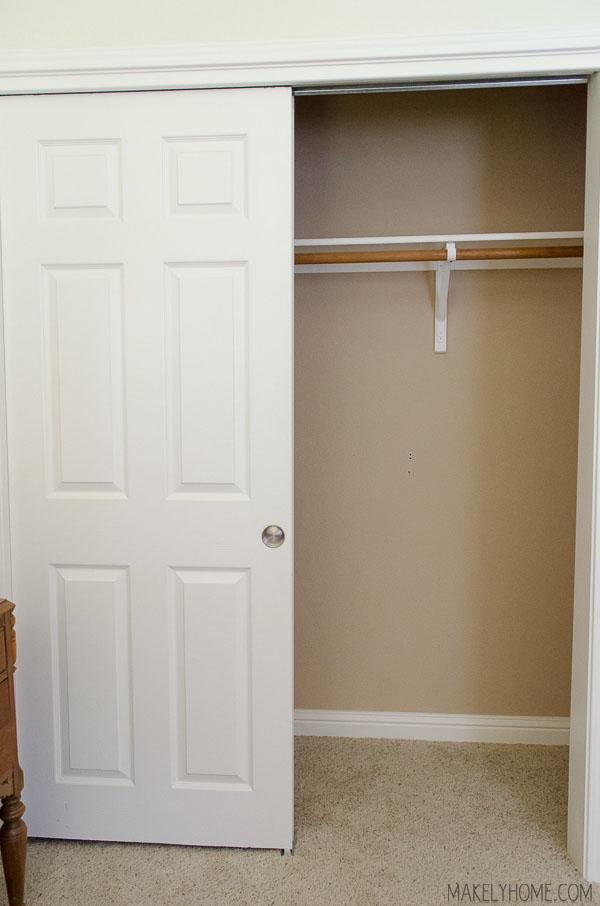 Empty Closet Interior Modern House Walkin