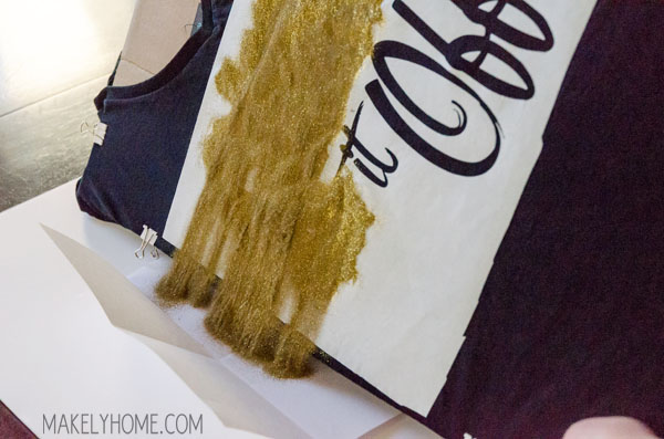 Easy DIY Heat Embossed T-Shirt