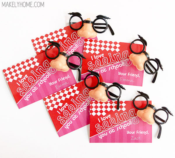 Free Printable Funny Glasses Valentines – How to Make Valentine Cards for School