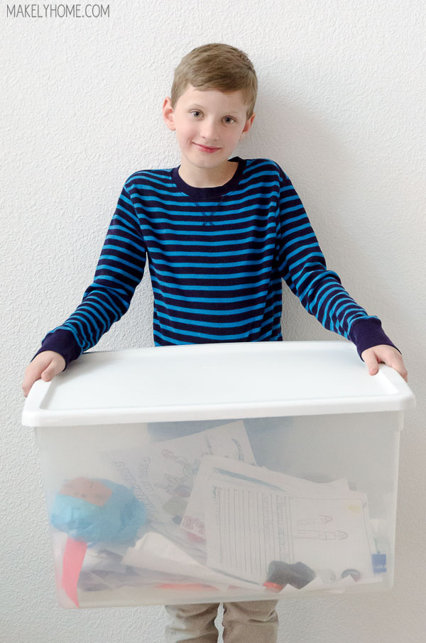 How to Live with a 3rd Grade Hoarder - tips to keep kids' collections organized