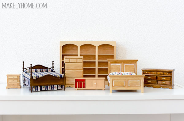 DIY dollhouse from a bookcase -  styled to look like my home #giveahome #Wayfair #Porch