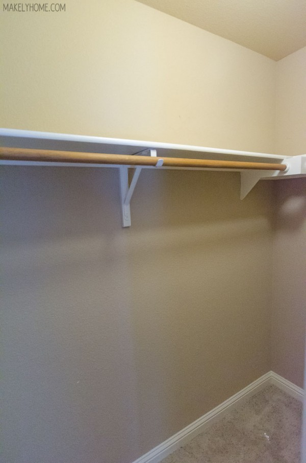 Builder's closet upgrade