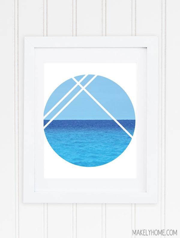 Free Printable - Geometric Ocean View