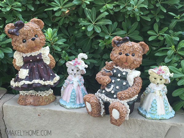 Halloween Teddy Bear Figurines